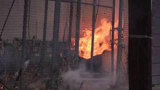 Paterson NJ Fire Dept Powerline Down with Fire Against Building 16 E Railway Ave