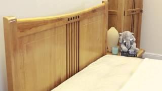 Hudson Wooden Bed (oak) - Sweet Dreams