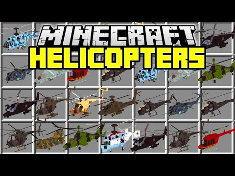 MINECRAFT HELICOPTERS MOD | Fly Huge Helicopters and Shoot Missiles! | Minecraft Mods