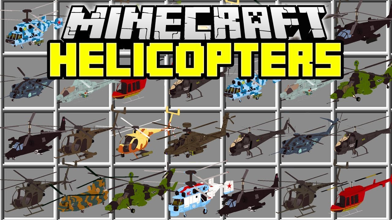 mc helicopter mod 1.7.10 download