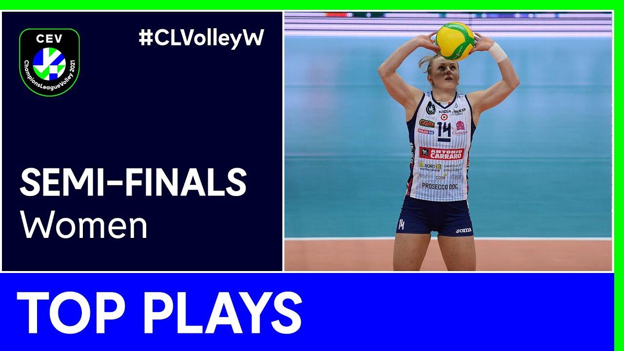 Top 5 Plays Semi-Finals - #CLVolleyW