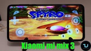 Xiaomi mi mix 3 The Legend of Spyro Gameplay Dolphin emulator Android 9 test
