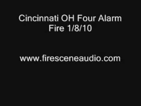 Cincinnati OH 4th Alarm Fire 1/8/10