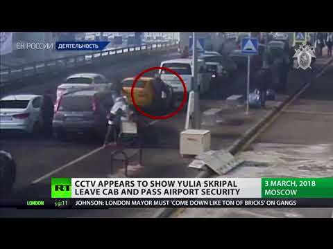 CCTV appears to show Yulia Skripal leave cab and pass airport security