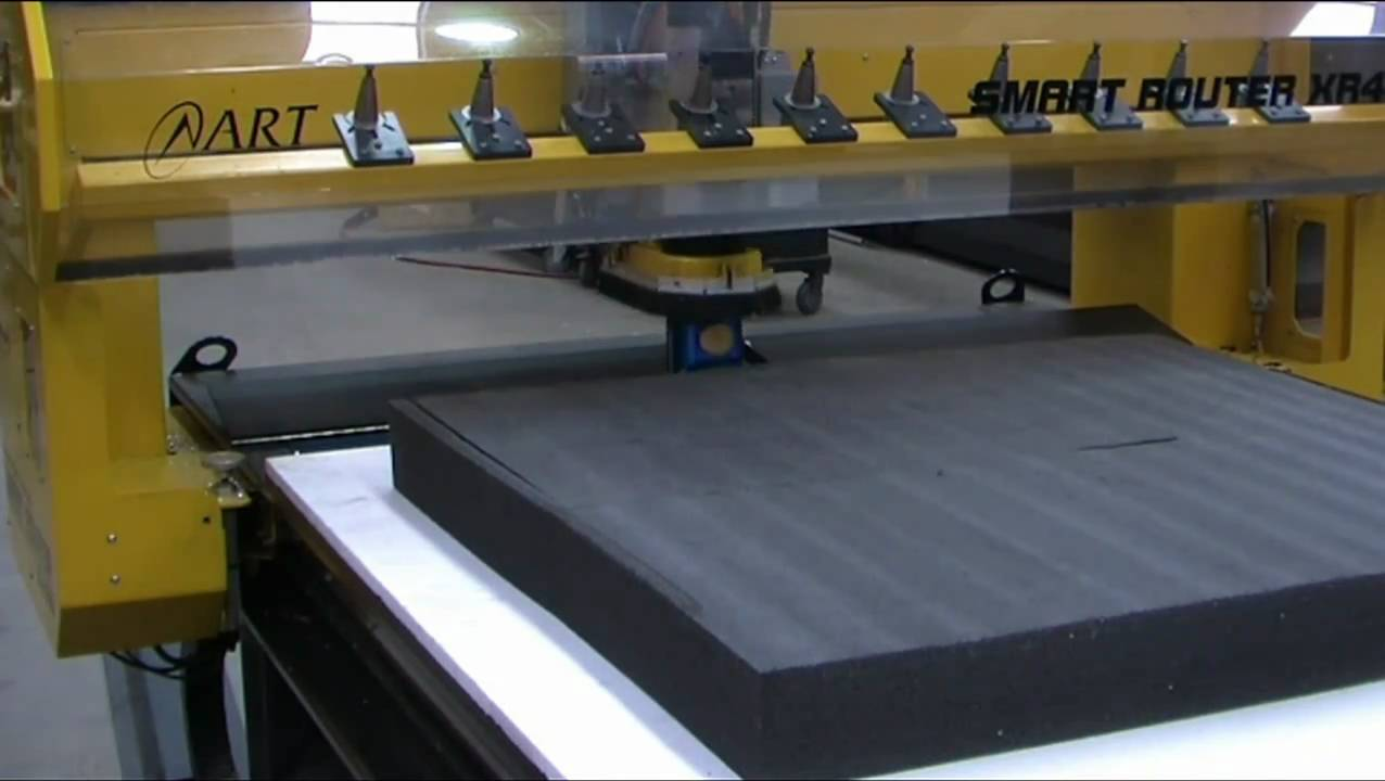 Art Xr4800 Cnc Router Cutting 105mm Closed Cell Foam Youtube