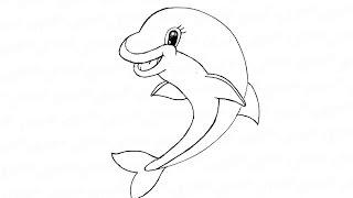 Как поэтапно нарисовать дельфина: инструкция от EvriKak(Предлагаем пошаговую инструкцию как рисовать карандашом веселого дельфина. Фото и текстовая инструкция..., 2015-12-27T13:56:11.000Z)