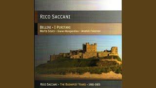 """I Puritani: Act 2, Romanza conclusion, """"E di morte lo stral non sara lento... """", Scena, """"O..."""