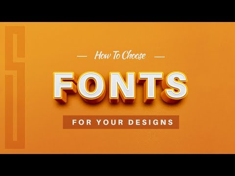 How To Choose Fonts With Design Wisdom *PRO TIPS*