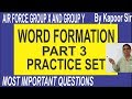Air Force English-Formation of Words Part 3 -Nouns from Adjectives