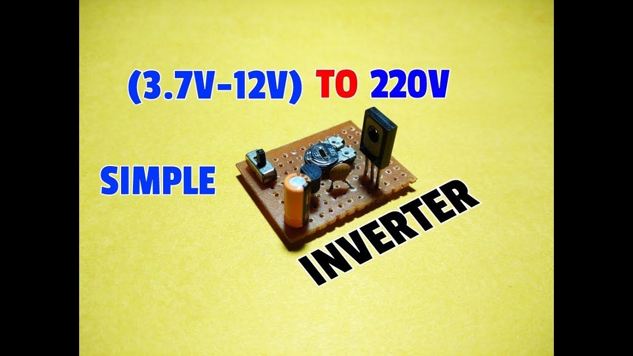 How To Make Simple Inverter Circuit 37v 12v Dc 220v Ac Using Simpleonoffswitchcircuitusingtransistorjpg Transistor