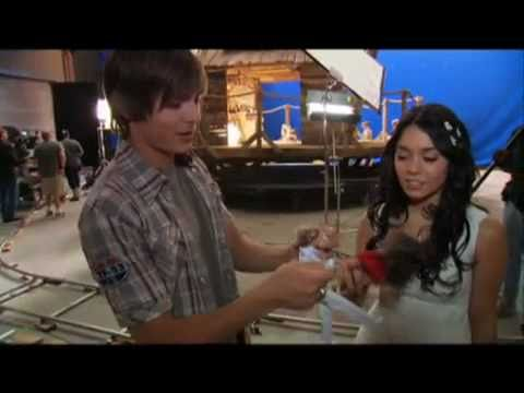 High School Musical 3 - 'Zac & Vanessa playing with Dolls' (Behind The Scenes)
