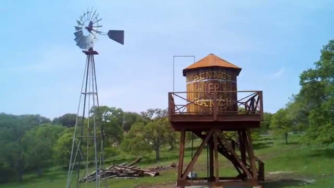Old Windmill And Wooden Watertower Youtube
