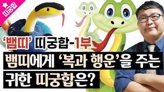 [띠궁합]♥'뱀띠' 분들 꼭 보세요! 뱀띠에게 행운을 주는 귀한 인연의 띠는?♥뱀띠궁합-1부