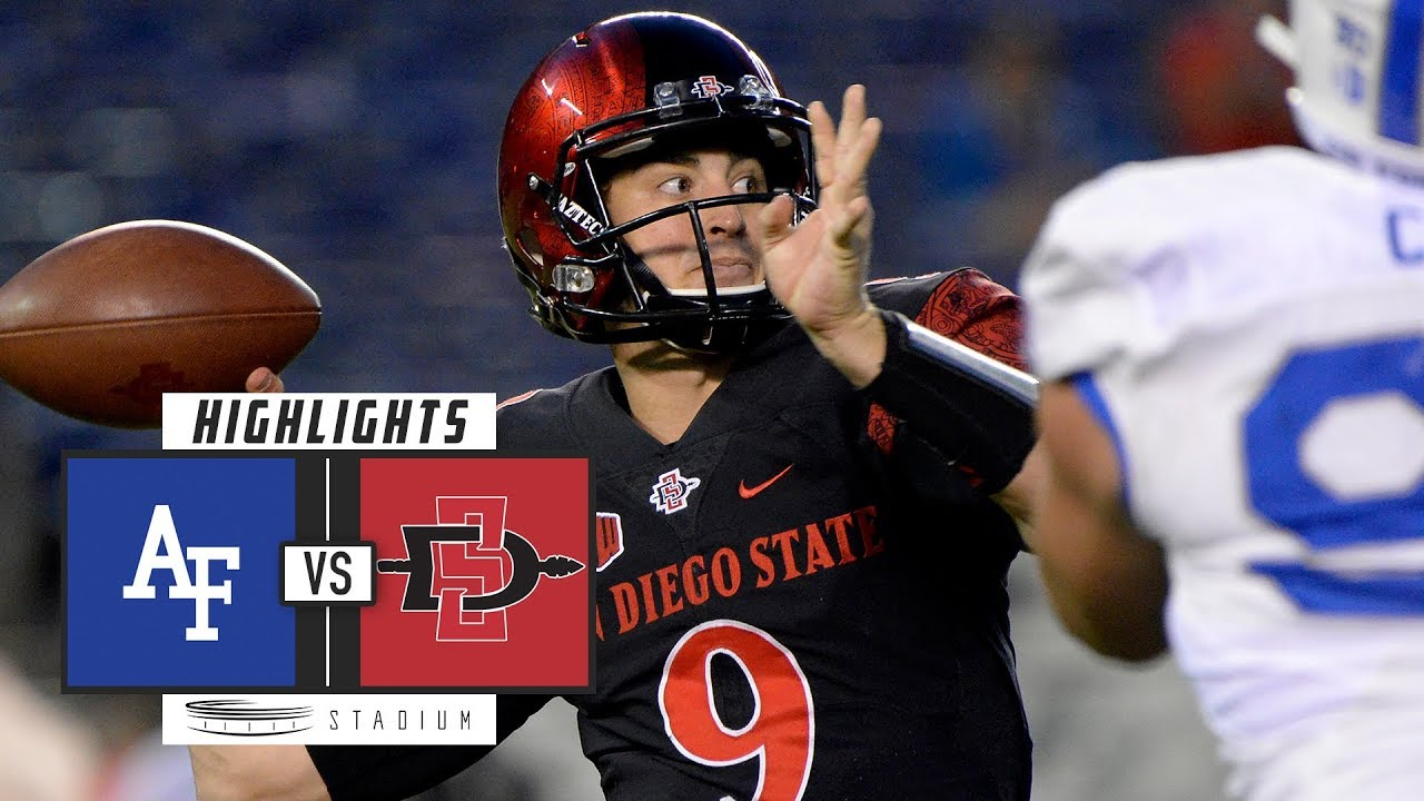 Air Force Vs San Diego State Football Highlights 2018 Stadium