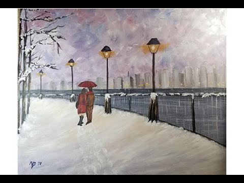 "My acrylic painting interpretation of ""Lamplight Love"""