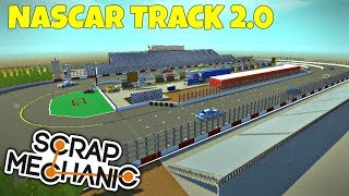Nascar Track & Car 2.0 - Scrap Mechanic Town Gameplay (World Download)