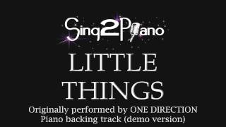 Little Things - One Direction (Piano backing track)