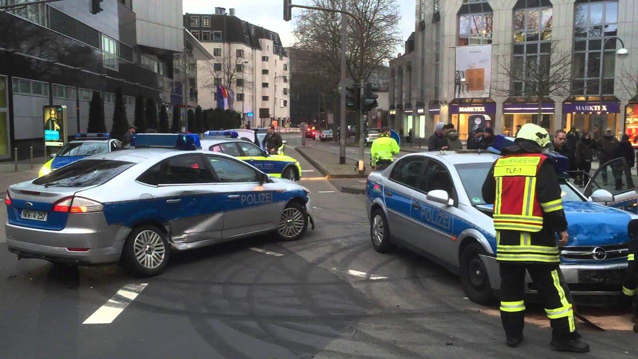 Streifenwagen-Unfall und Verfolgungsjagd: Dreharbeiten in Köln - YouTube