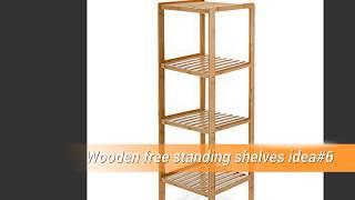 20 Wooden free standing shelves ideas