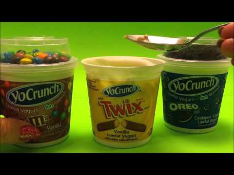 USA YoCrunch M&M's Vs Twix Vs Oreo 🍪 cookie fun