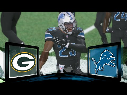 Madden NFL 17 Detroit Lions Franchise- Year 1 Game 16 vs Green Bay Packers