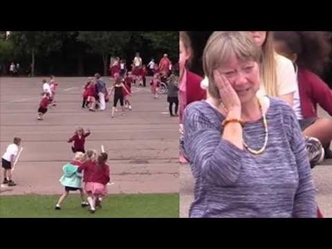 Flashmob - Grundschüler überraschen ihre Lehrerin!