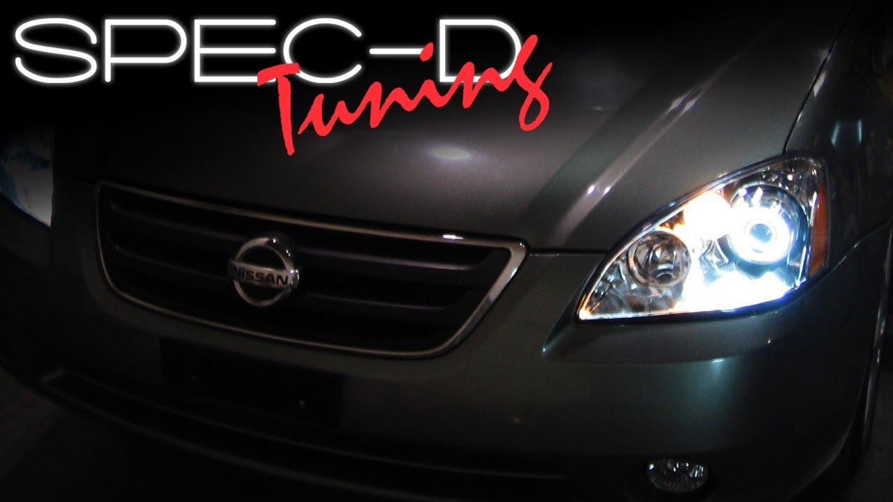 SPECDTUNING INSTALLATION VIDEO: 2002-2004 NISSAN ALTIMA PROJECTOR ...