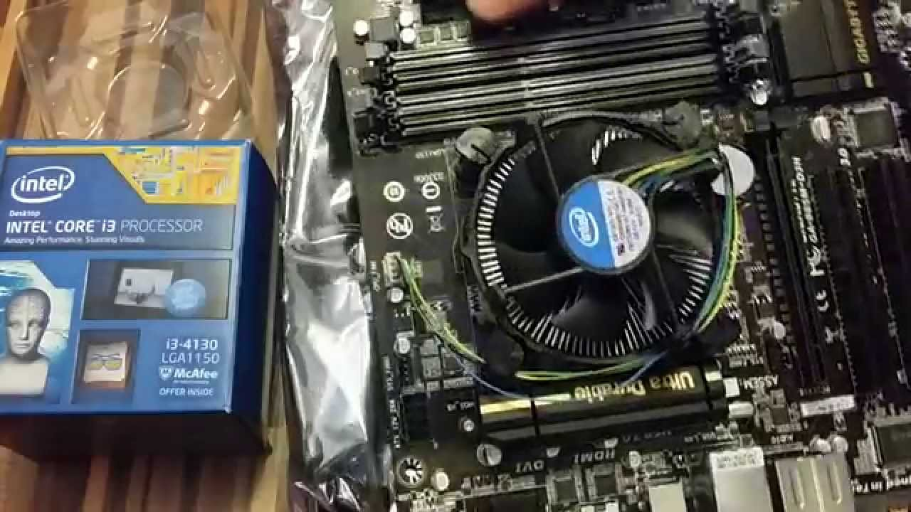 Installing CPU INTEL CORE i3-4130 on GIGABYTE GA-B85M-D3H Motherboard