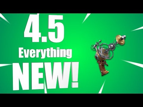 Fortnite 4.5 Update Notes! Everything New!