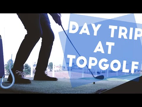 Hook spends the day at #Topgolf