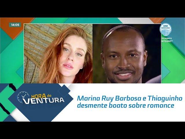 Marina Ruy Barbosa e Thiaguinho desmente boato sobre romance