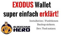 Exodus Wallet - Einfach erklärt | Installation - Funktionen - Backup
