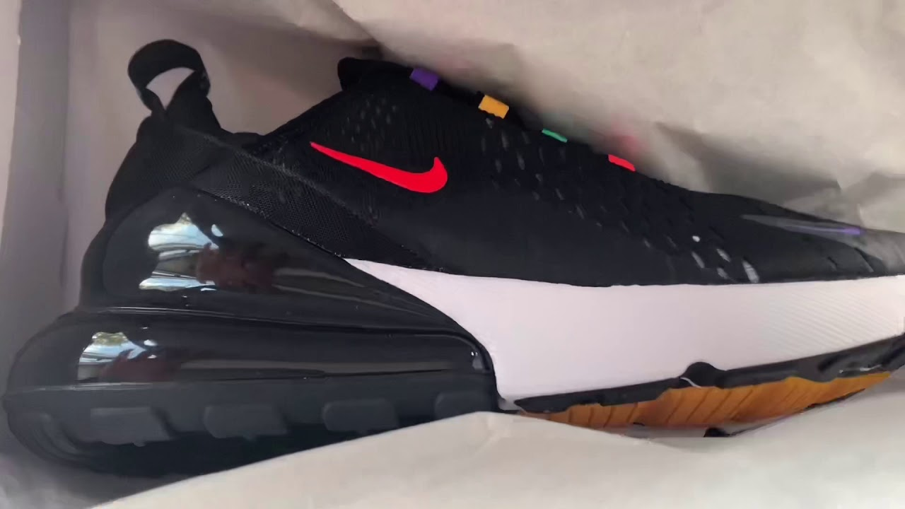 Nike Air Max 270 GS 'Game Change' CJ6960 001 BlackMulticolor Youth Size 5Y