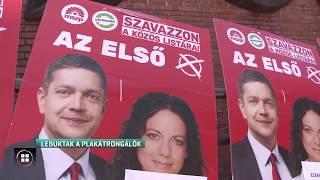 Lebuktak a fideszes plakátrongálók 19-05-26