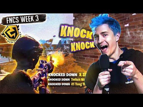 KNOCKING WHOLE TEAMS IN FNCS WEEK 3! (Fortnite: Battle Royale)