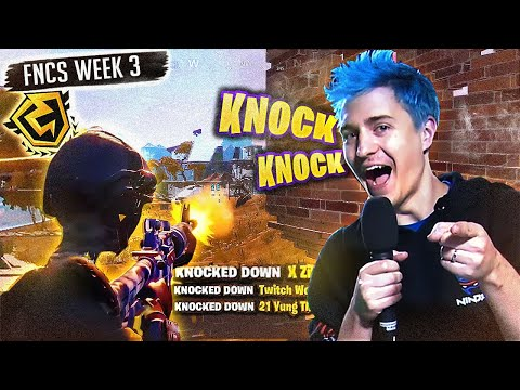 KNOCKING WHOLE TEAMS IN FNCS WEEK 3! (Fortnite: Battle Royale)