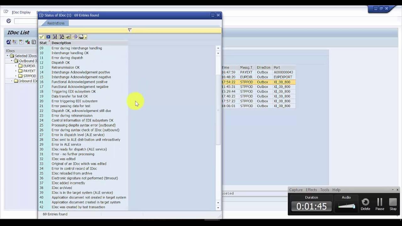 Changing the Status of an IDoc in SAP - SAP EDI