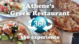 Delicious Calamari Pizza and Greek Salad at Athene's Restaurant in Vancouver - Samsung Gear 360