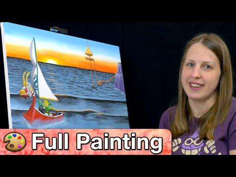 "Zelda: Wind Waker - ""Outset Island"" Painting (Full Version)"