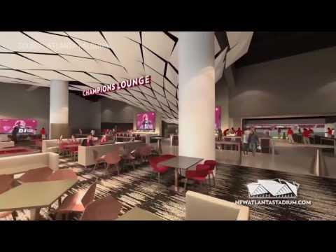 Atlanta's new Mercedes-Benz Stadium has a retractable roof