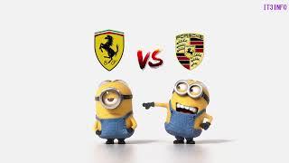 Ferrari vs Porsche Minions Style ( Funny )