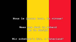national anthem of belgium instrumental with lyrics