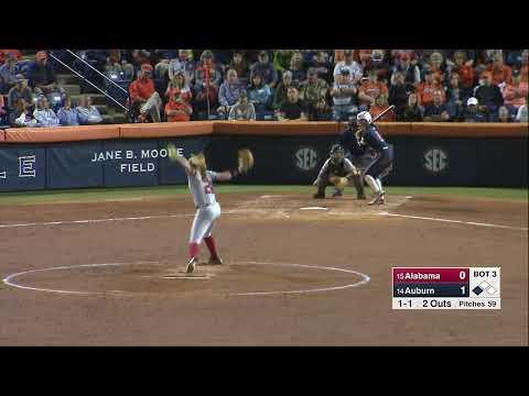 Auburn Softball vs Alabama Game 2 Highlights