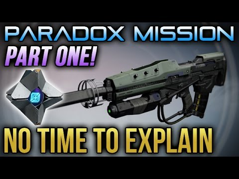 Destiny no time to explain exotic stranger s rifle part 1 paradox