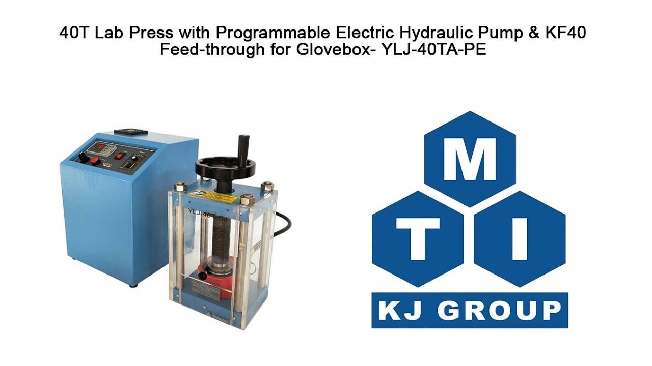 40T Lab Press with Programmable Electric Hydraulic Pump - YLJ-40TA-PE
