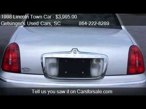 1998 lincoln town car signature for sale in anderson sc 2 youtube. Black Bedroom Furniture Sets. Home Design Ideas