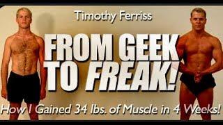 Tim Ferriss: 15 Kg Muskelmasse in 1 Monat aufbauen! ZurStrandfigur.com