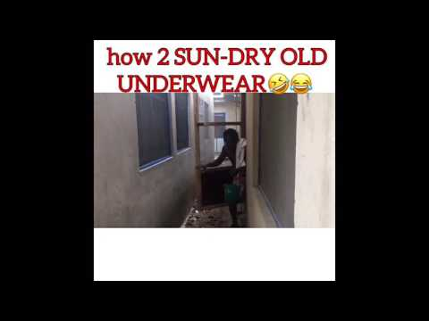How to Sun dry your new and old underwear in public... It's hillarious...