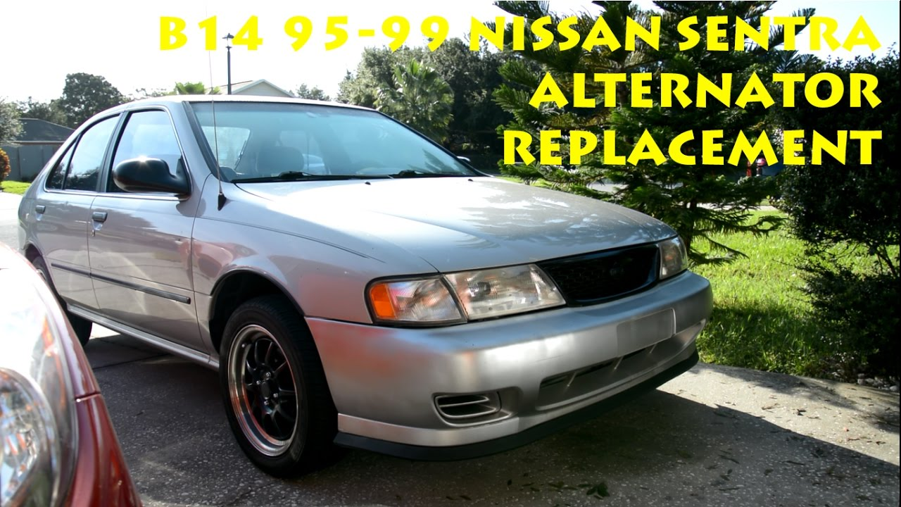 small resolution of b14 1995 1999 nissan sentra alternator replacement