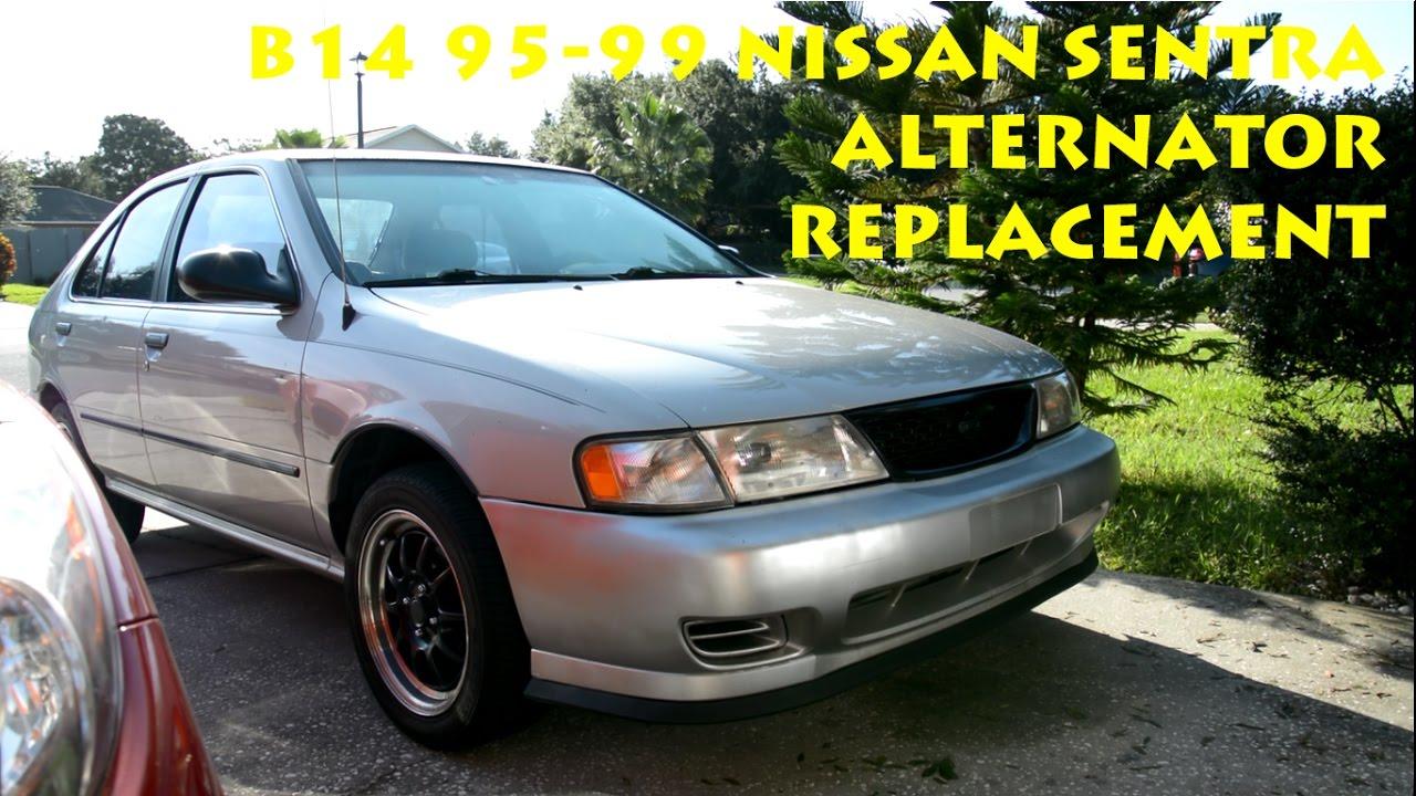 medium resolution of b14 1995 1999 nissan sentra alternator replacement